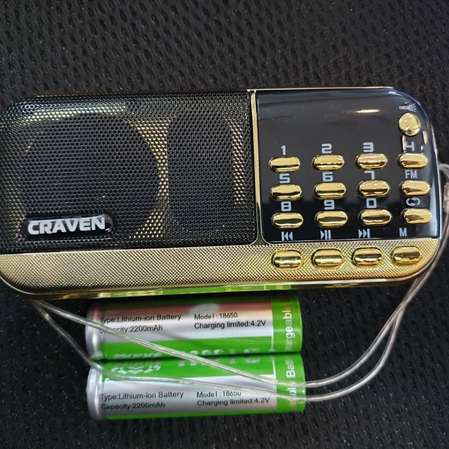 Loa Nghe nhạc USB, thẻ nhớ Craven 836 2pin (màu ngẫu nhiên) - hàng nhập khẩu