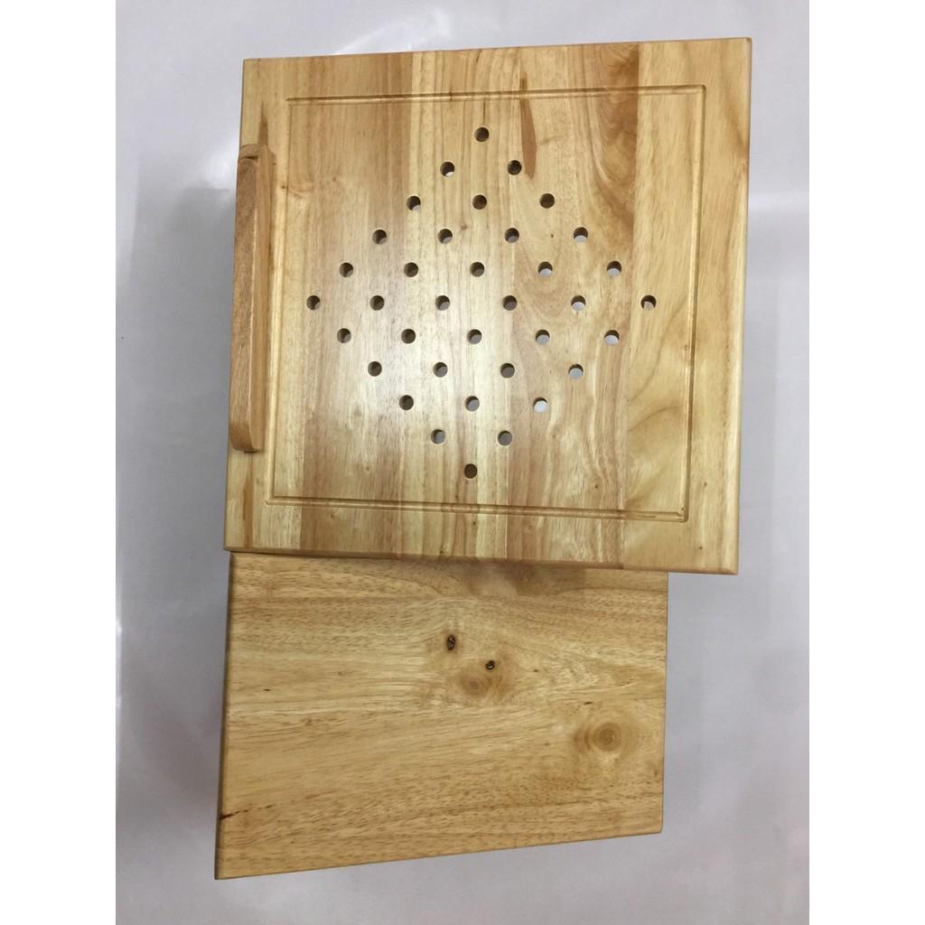 Giá kê laptop bằng gỗ tự nhiên.