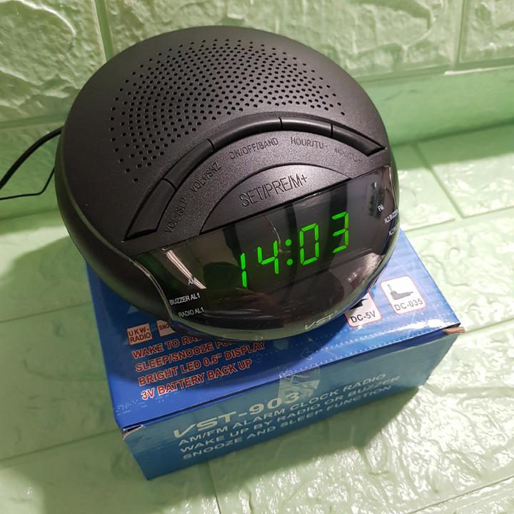 Đồng hồ Led báo thức có đài FM và AM