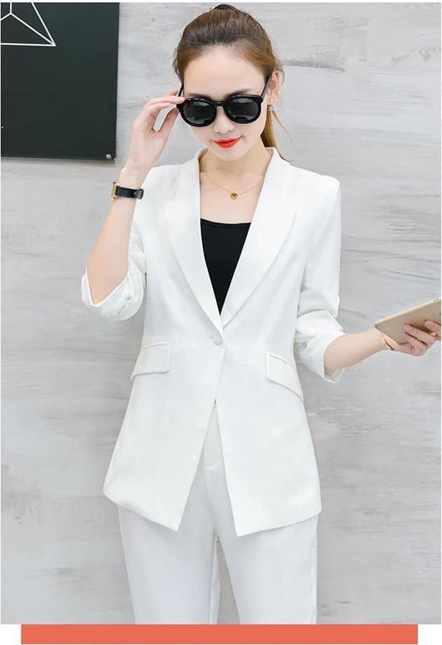 Set nguyên bộ áo vest quần dài kèm áo thun - VN54
