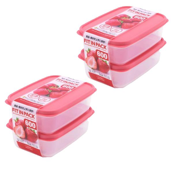 Combo Set 2 hộp nhựa đựng thực phẩm Fitin Pack 600ml nắp dẻo nội địa Nhật Bản - 2 set - 24032076 , 4151061668138 , 62_31148545 , 123500 , Combo-Set-2-hop-nhua-dung-thuc-pham-Fitin-Pack-600ml-nap-deo-noi-dia-Nhat-Ban-2-set-62_31148545 , tiki.vn , Combo Set 2 hộp nhựa đựng thực phẩm Fitin Pack 600ml nắp dẻo nội địa Nhật Bản - 2 set