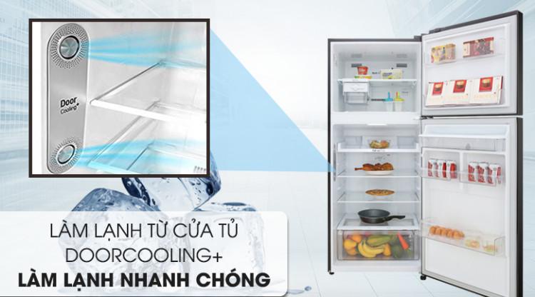 Tủ lạnh LG Inverter 393 lít GN-D422BL - Cải thiện hiệu quả làm lạnh nhờ công nghệ Door Cooling+