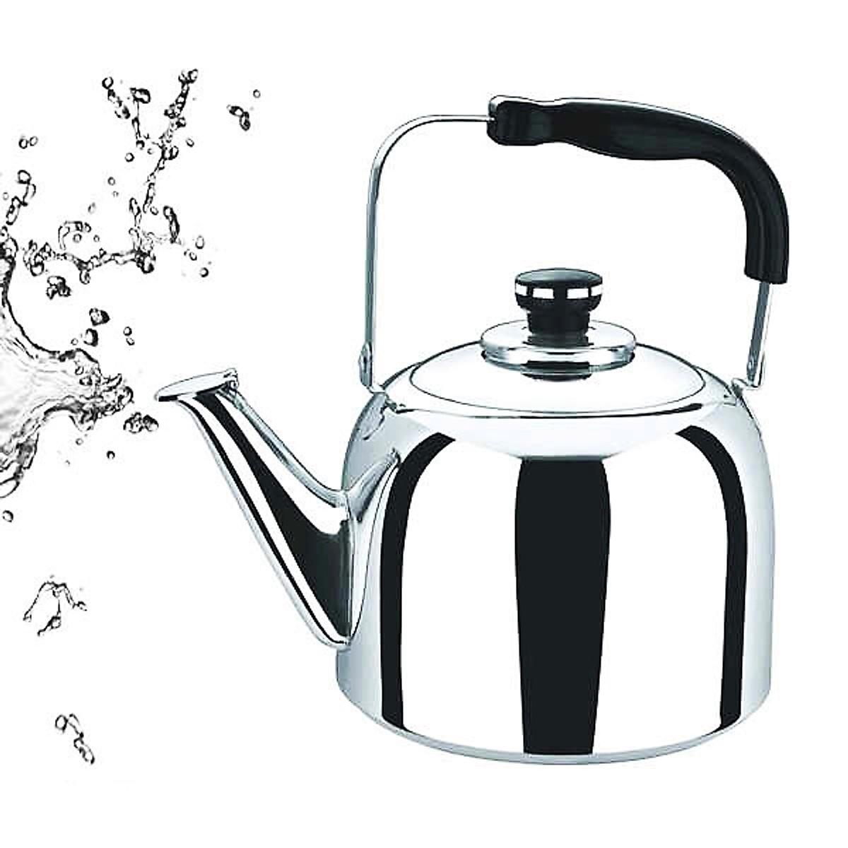 Ấm đun nước Inox báo còi khi nước sôi 2,5L