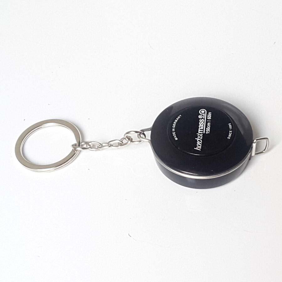 Combo 02 Thước dây móc chìa khóa 150cm (Mầu Đen và Trắng) - Nhỏ gọn, tiện lợi đo vòng eo, chiều cao, may đo quần áo