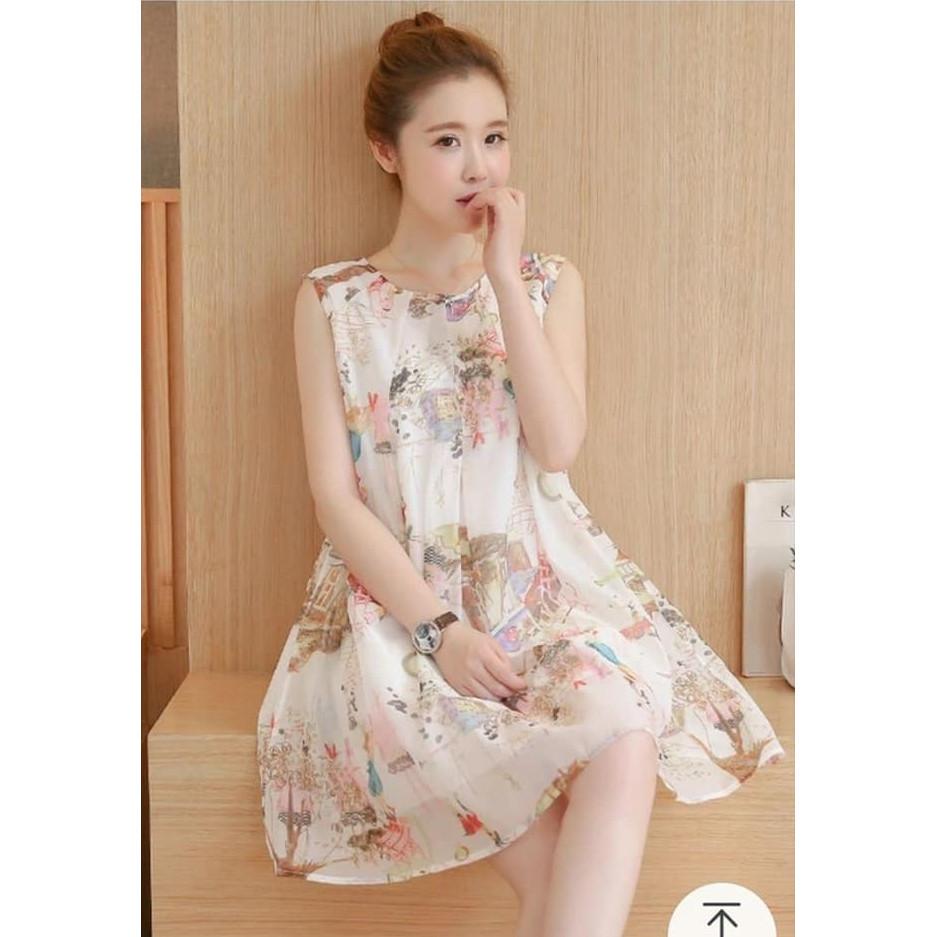 Đầm bầu thời trang họa tiết DN19072816
