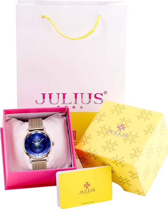 Đồng hồ nữ Julius JA-1129C (Đồng Xanh)