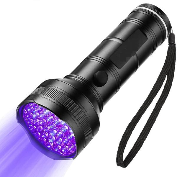 Đèn pin Led UV 51 bóng,khu vực sáng rộng,nhỏ gọn cầm tay với bước sóng 395nM