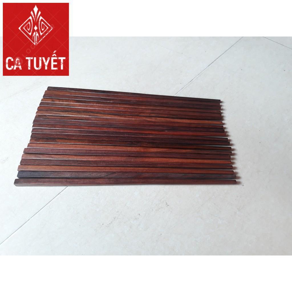 Đũa Ăn Cao Cấp Bằng Gỗ Cẩm Hương + Hộp đựng đũa bằng gỗ Hương (Đ)