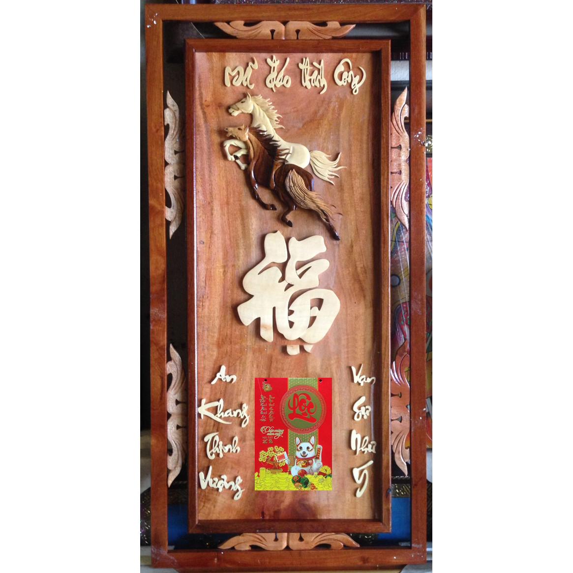 Tranh gỗ ghép treo lịch Bloc