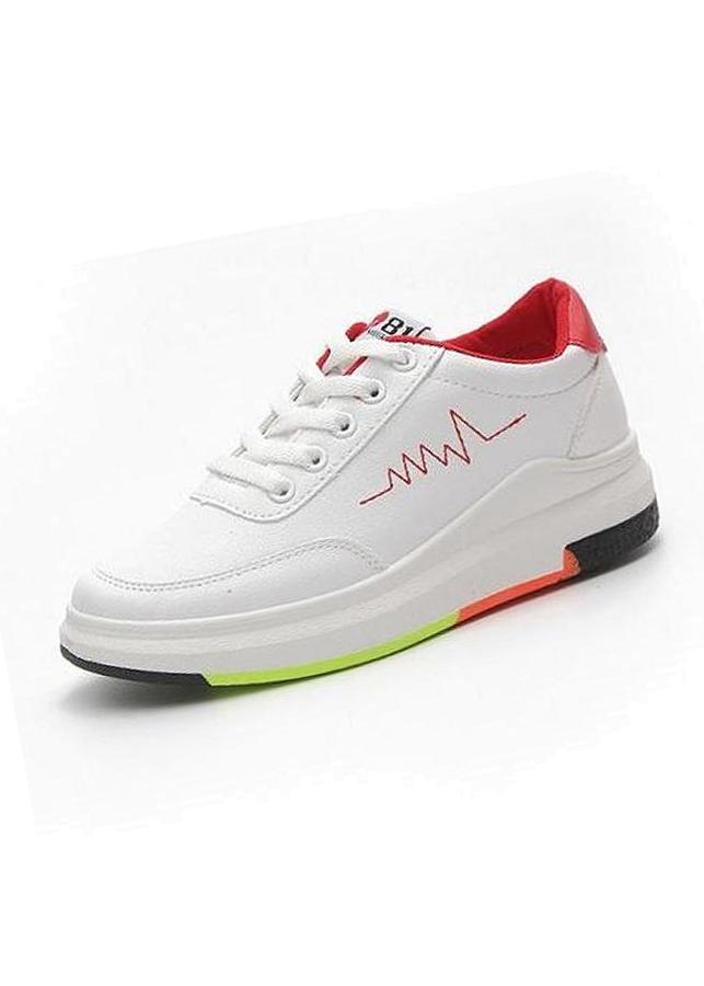Giày Sneaker thể thao nữ YAMET SN 36HQ89R Trắng phối Đỏ