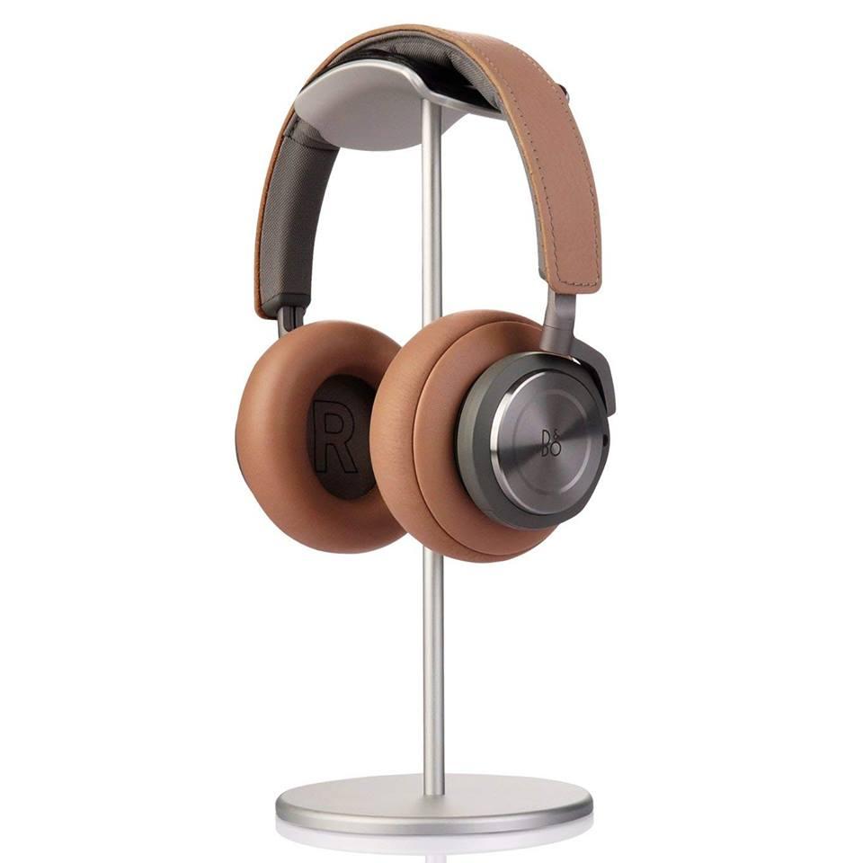 Kệ / Giá Nhôm Treo Tai Nghe Headphone Đầu Bọc Da Vòm Crossline - Hàng Chính Hãng