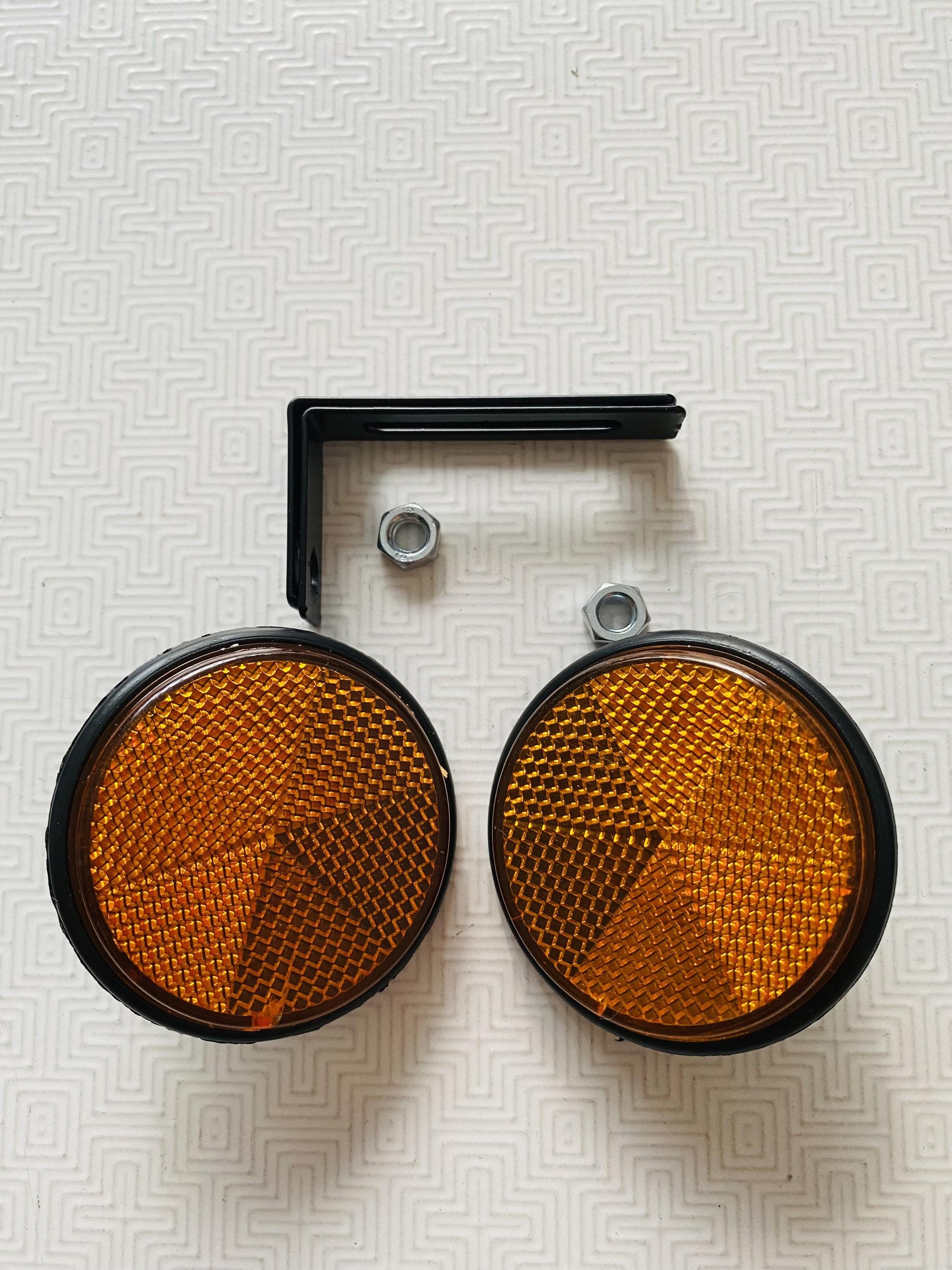 Combo 2 Mắt mèo phản quang trước sau full ốc pát lắp đặt dễ như Zin ko chế độ dùng cho mọi loại xe NKLUBE