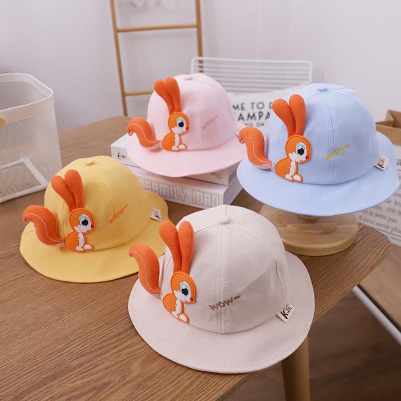 Mũ vành tròn hoạt hình Sóc nhỏ cho trẻ em từ 1 đến 3,5 tuổi