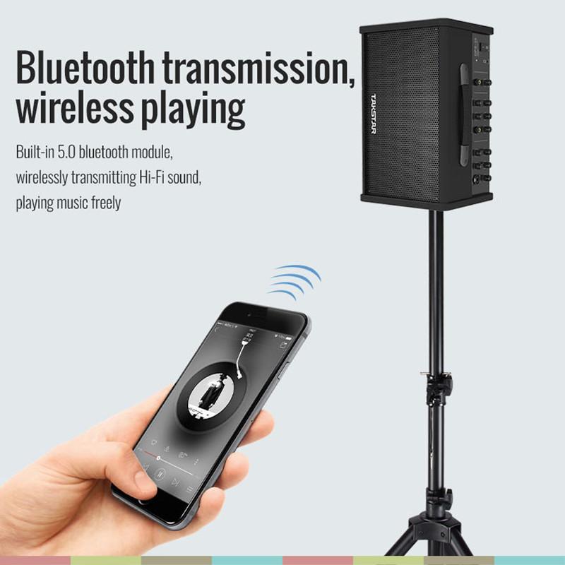 Loa Kéo Bluetooth Hát Karaoke Di Động, Công Suất 40w, Có Reverb, Delay, Loa 6.5 Inch Takstar OPS-25 - Hàng chính hãng