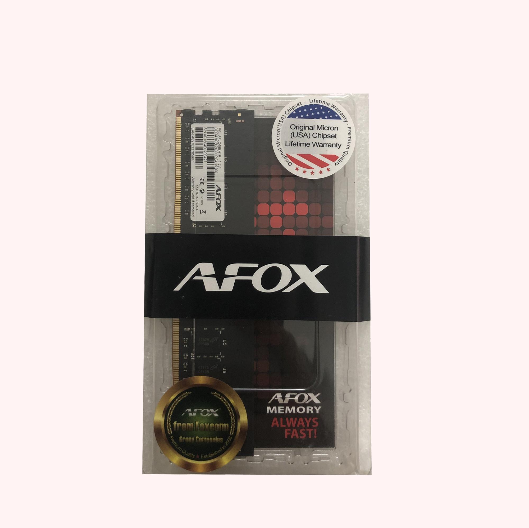 Ram Afox 8GB DDR4 2400 (Chip Micron) - Hàng Chính Hãng