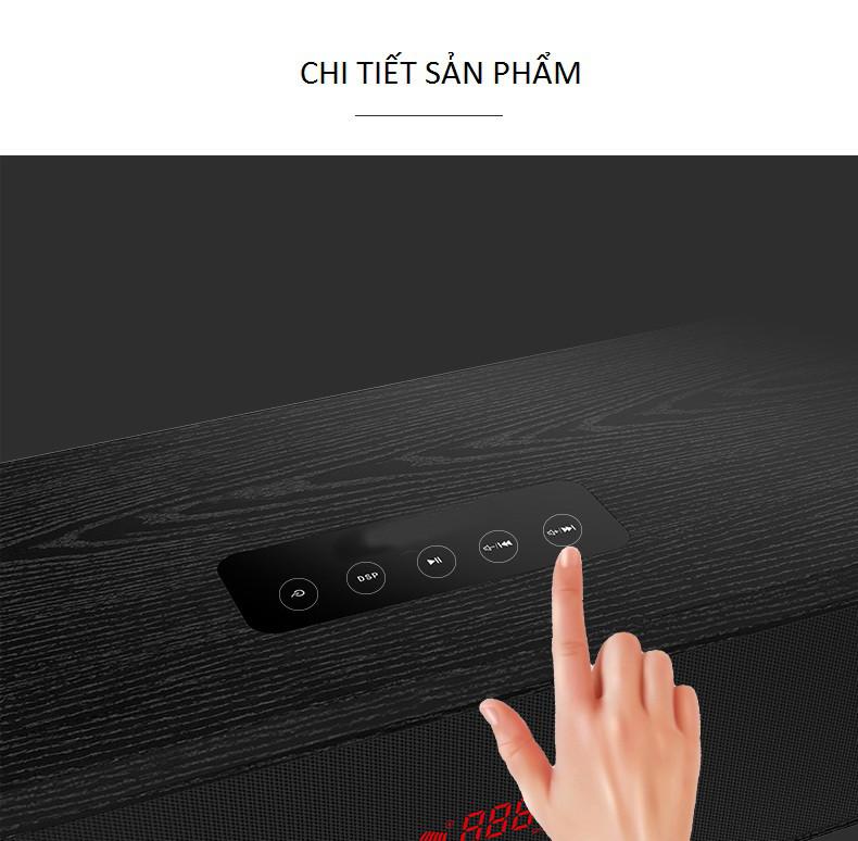 Tặng Dây Audio Quang Mạ Vàng 24K - Loa Soundbar TV Âm Thanh True Surround 5.1 Bluetooth Hát Karaoke L9 Kèm 02 Micro Không Dây - Công suất 200W - Hàng Nhập Khẩu