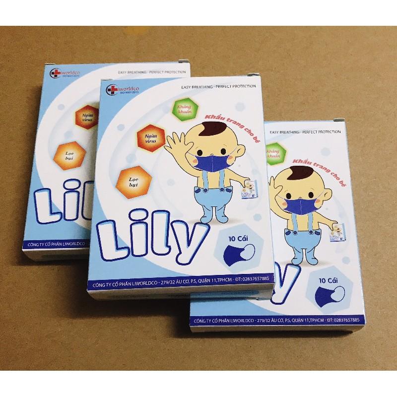 Hộp 10 Cái Khẩu Trang Em Bé Lily Liworldco