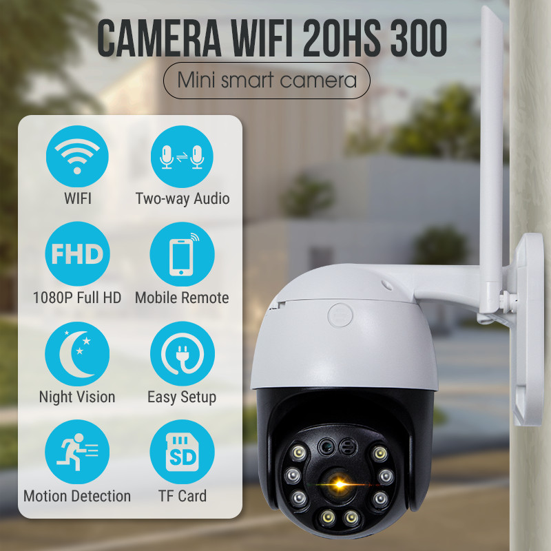 Camera IP - Camera Wifi Quan Sát CC8031 Ngoài Trời Đàm Thoại 2 Chiều 3.0Mpx 2304x1296P, Xoay 360 Độ Kèm Thẻ Nhớ 32Gb - Chính Hãng