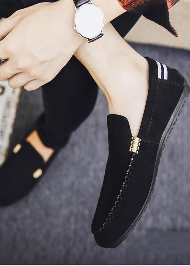 Giày Lười Nam Phong Cách Trẻ Trung Năng Động - Màu ĐenSV05