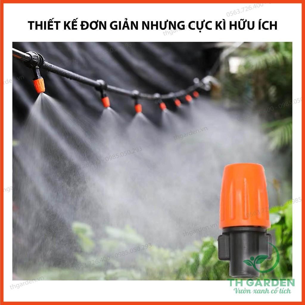 Hệ Thống Phun Sương Tưới Cây Tự Động TH Garden - Béc Phun Sương Cao Cấp Phun Sương Làm Mát - Tiết Kiệm Tới 95% Công Sức - Hệ Thống Phun Sương Làm Mát