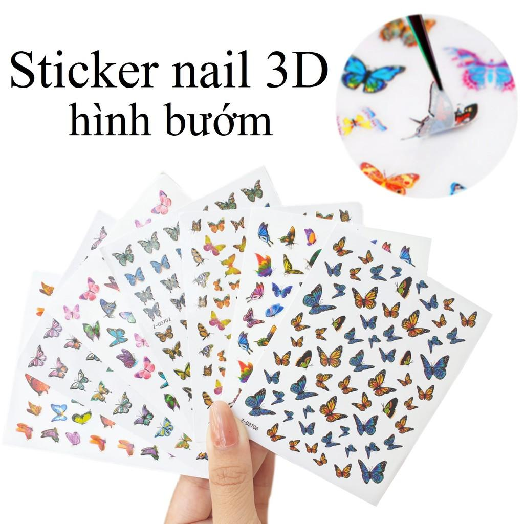 Sticker nails - hình dán móng 3D bướm