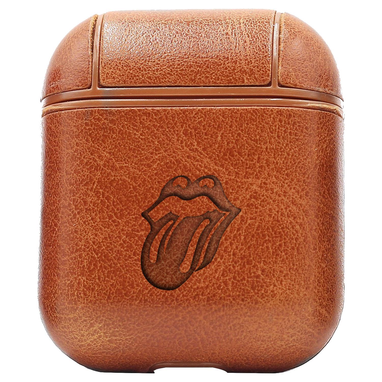 Bao Da Cover Apple Airpods 1 / 2 Premium  Khắc Hình Rock Rolling Stones