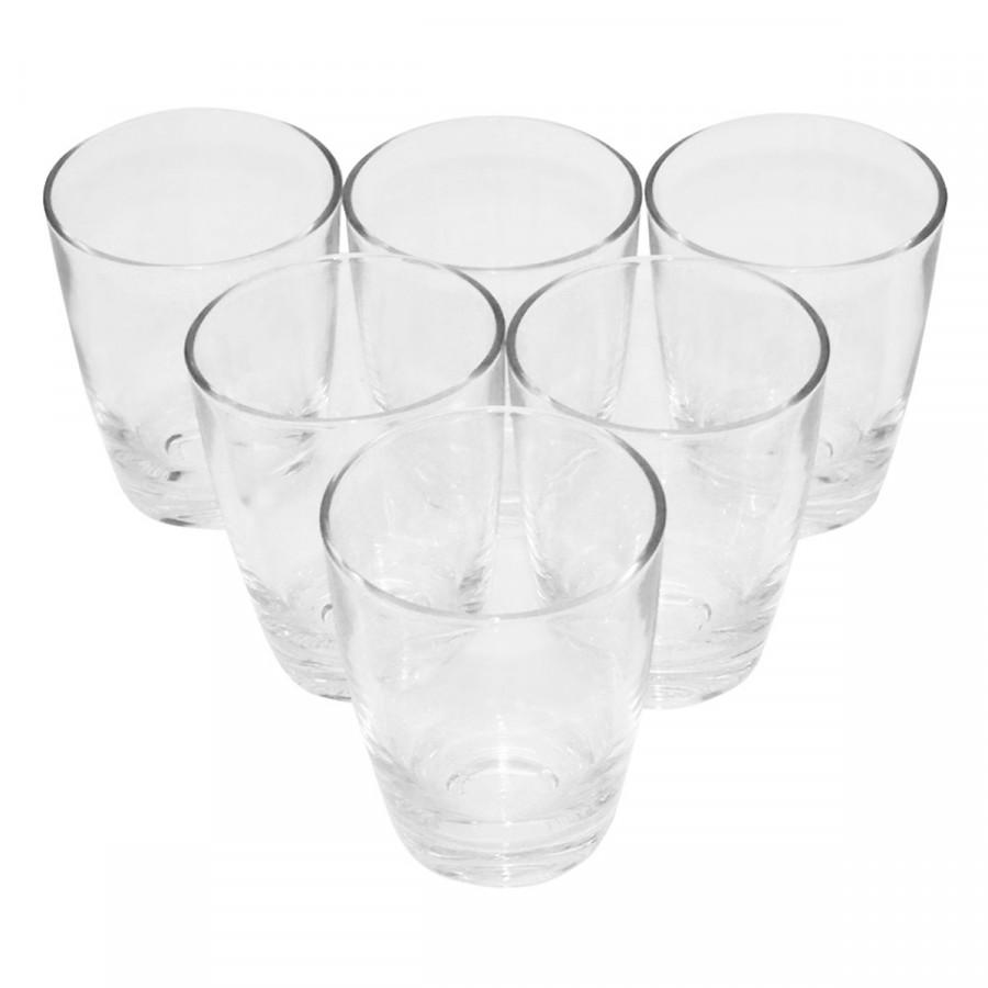 Bộ ly 6 cái Uniion Glass 338 Ly bầu lùn 265ml  không ngã màu, sản xuất Thái Lan