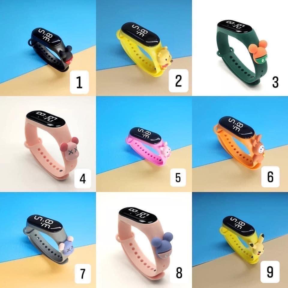 Đồng hồ điện tử dành cho bé đeo tay Zgo Disney màn hình Led đáng yêu (Giao màu ngẫu nhiên)