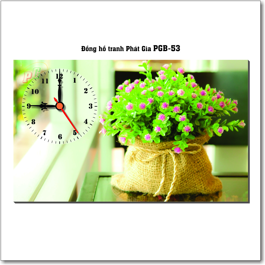 Đồng hồ tranh để bàn PGB-53