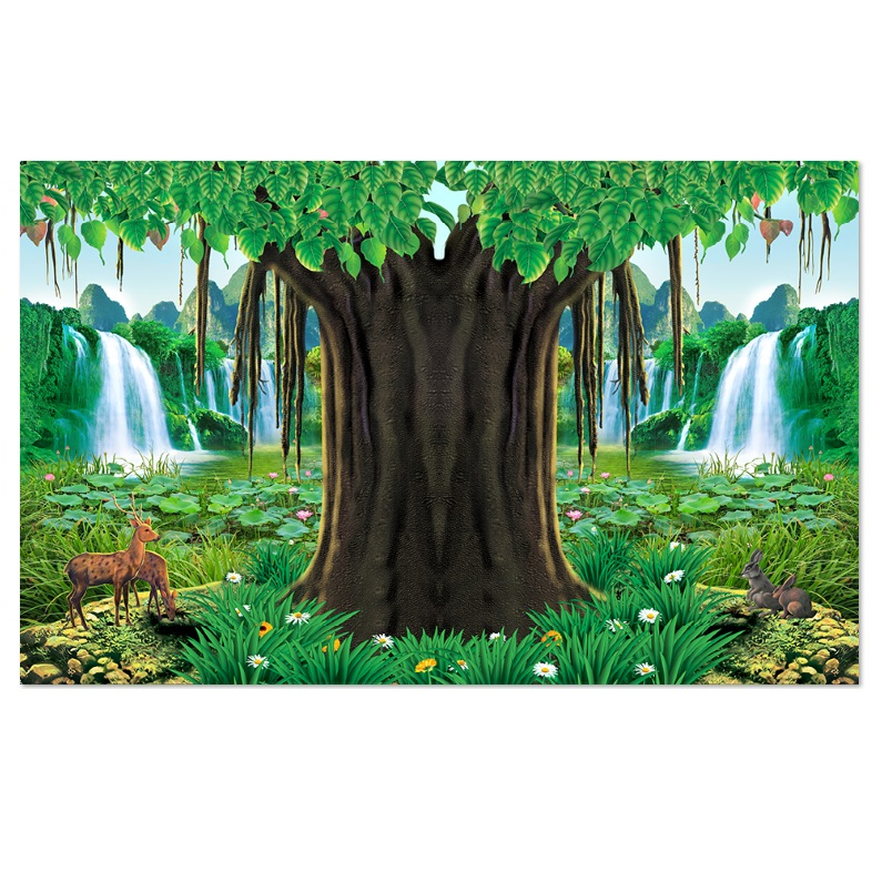 Decal cây bồ đề trang trí bàn thờ CayBoDe_4 nhiều kích thước