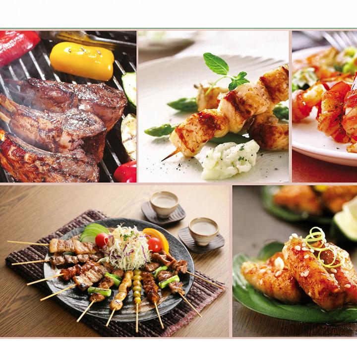 Bếp nướng than hoa inox không gỉ cao cấp du lịch dã ngoại kèm vỉ nướng, xẻng lật, xiên thức ăn Hewolf hàng chính hãng