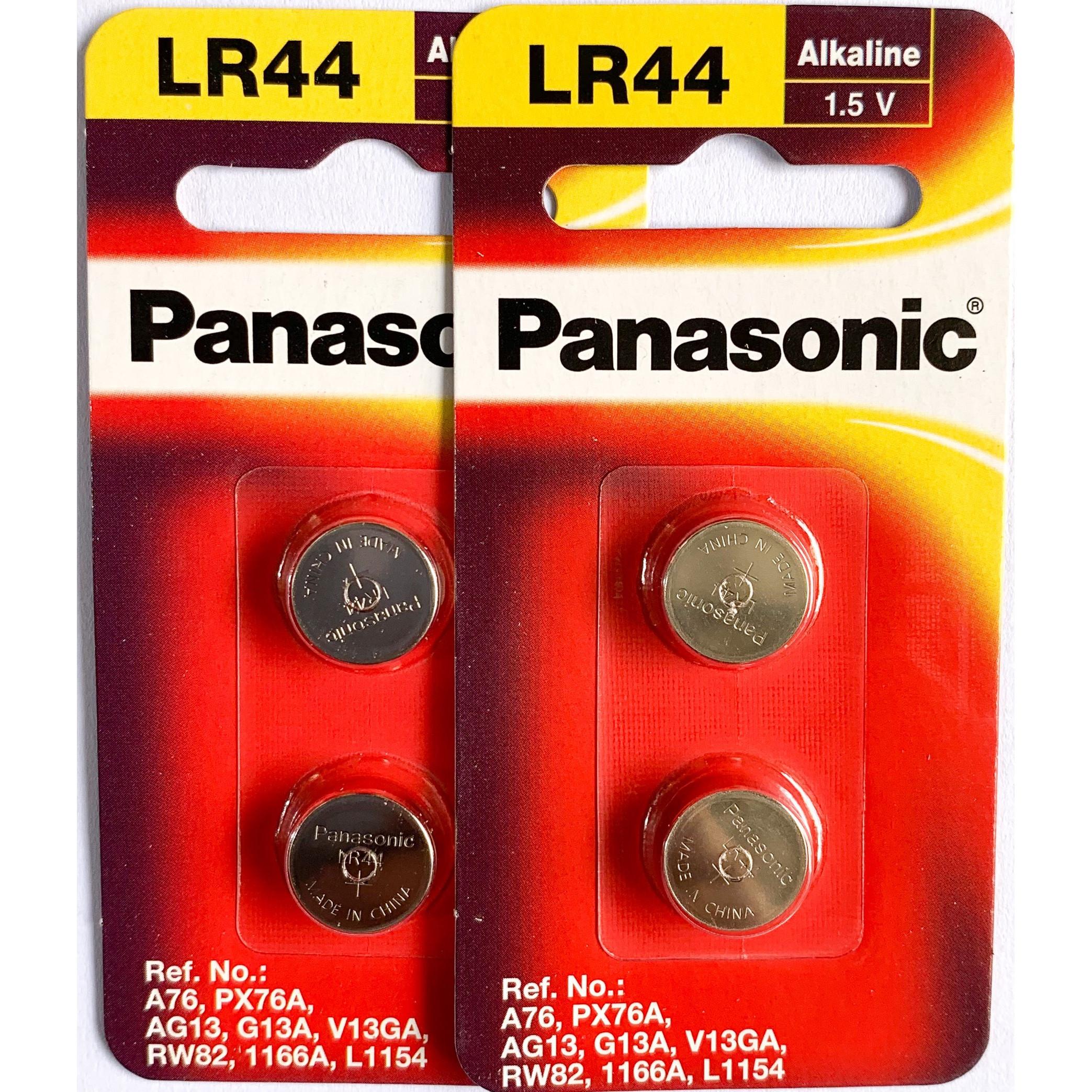 2 Vỉ Pin LR44/2B Panasonic 1,5 V - Hàng Chính Hãng