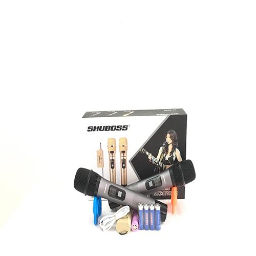 """Micro karaoke cao cấp không dây """"SHUBOSS W3000"""" - SẢN PHẨM CHÍNH HÃNG"""