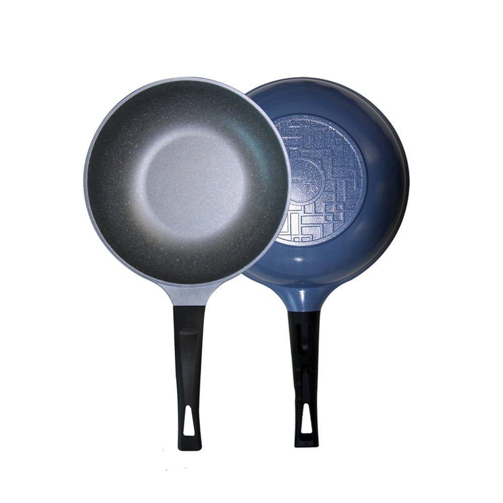 Chảo đúc chống dính vân đá ceramic Hàn Quốc cao cấp sâu lòng size 26cm - Hàng chính hãng