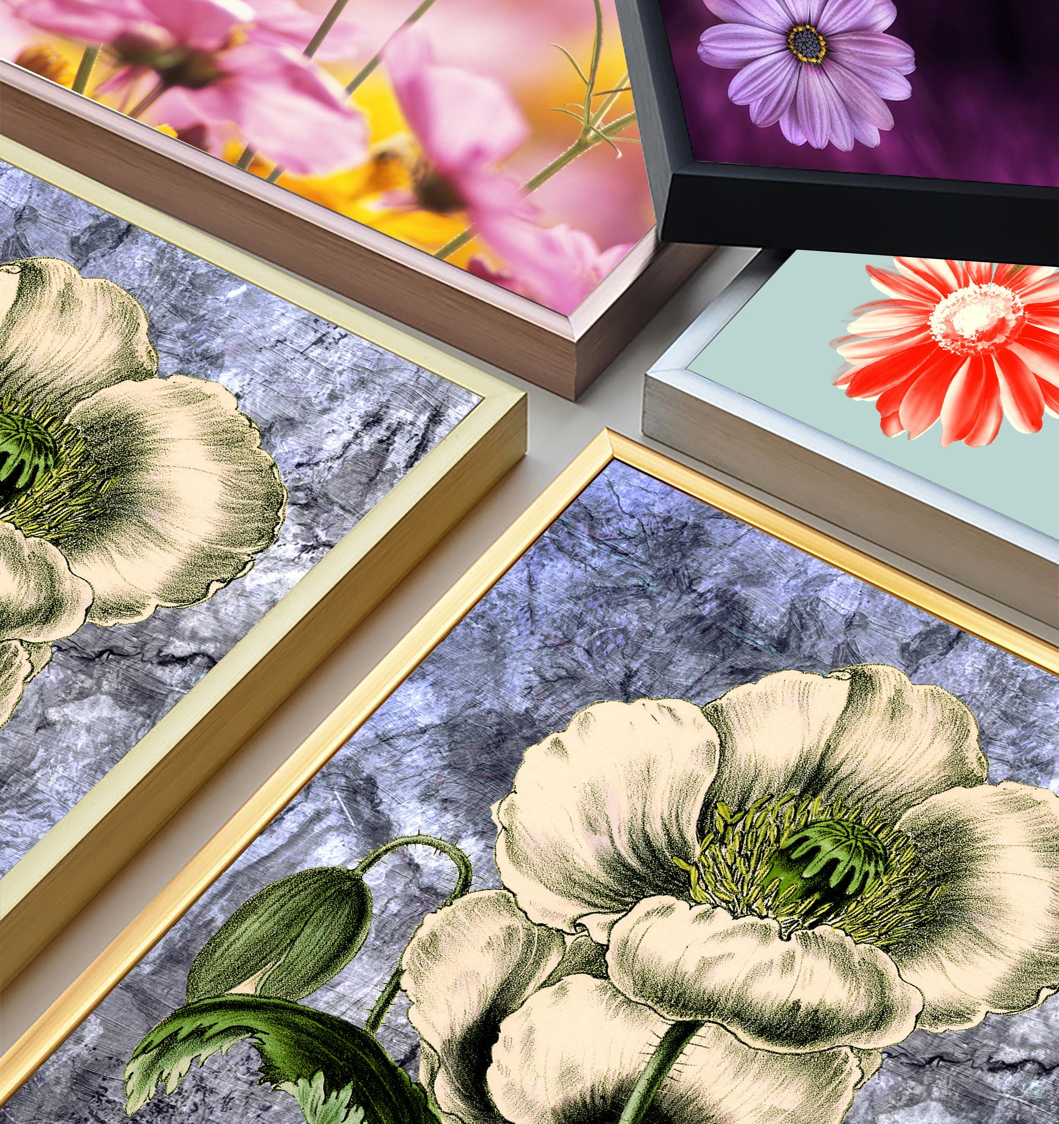 Tranh Canvas Sơn dầu Hoa Nghệ thuật cao cấp. (Bộ 1 bức), Khung hợp nhôm chống ẩm, bền, đẹp, nhiều kích thước. Phù hợp nhiều không gian sang trọng.