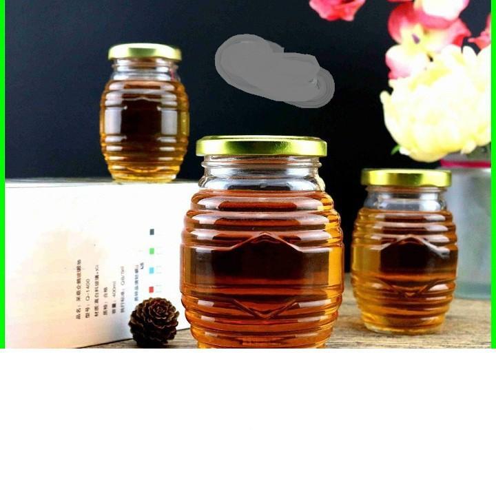 Hũ thủy tinh con ong nắp thiếc 700ml