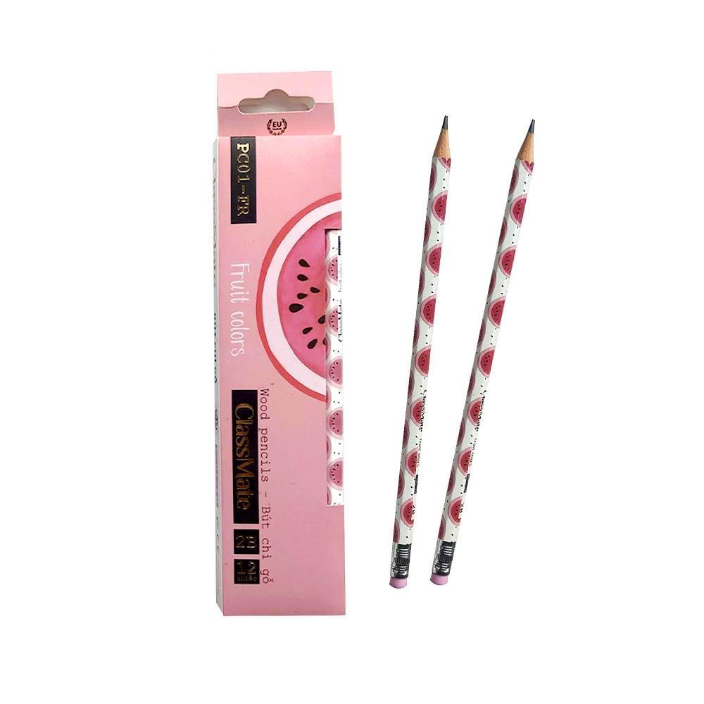Hộp 12 cây bút chì gỗ 2B có tẩy Classmate PC01-FR
