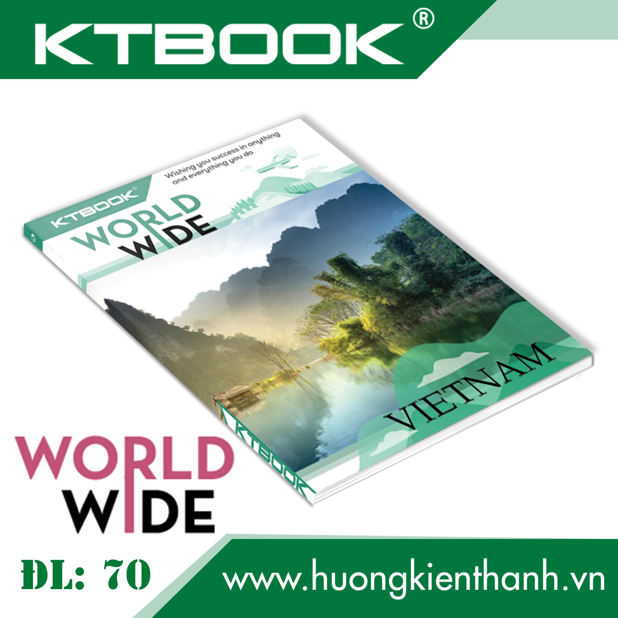 Gói 5 cuốn Tập Học Sinh Cao Cấp Giá rẻ Worldwide Giấy Trắng ĐL 70 gsm - 200 trang