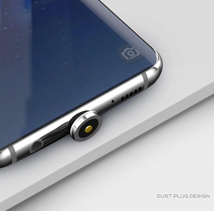 Dây sạc điện thoại phát sáng - Kèm 3 đầu sạc nam châm (MicroUSB - TypeC - Lightning) - Màu ngẫu nhiên