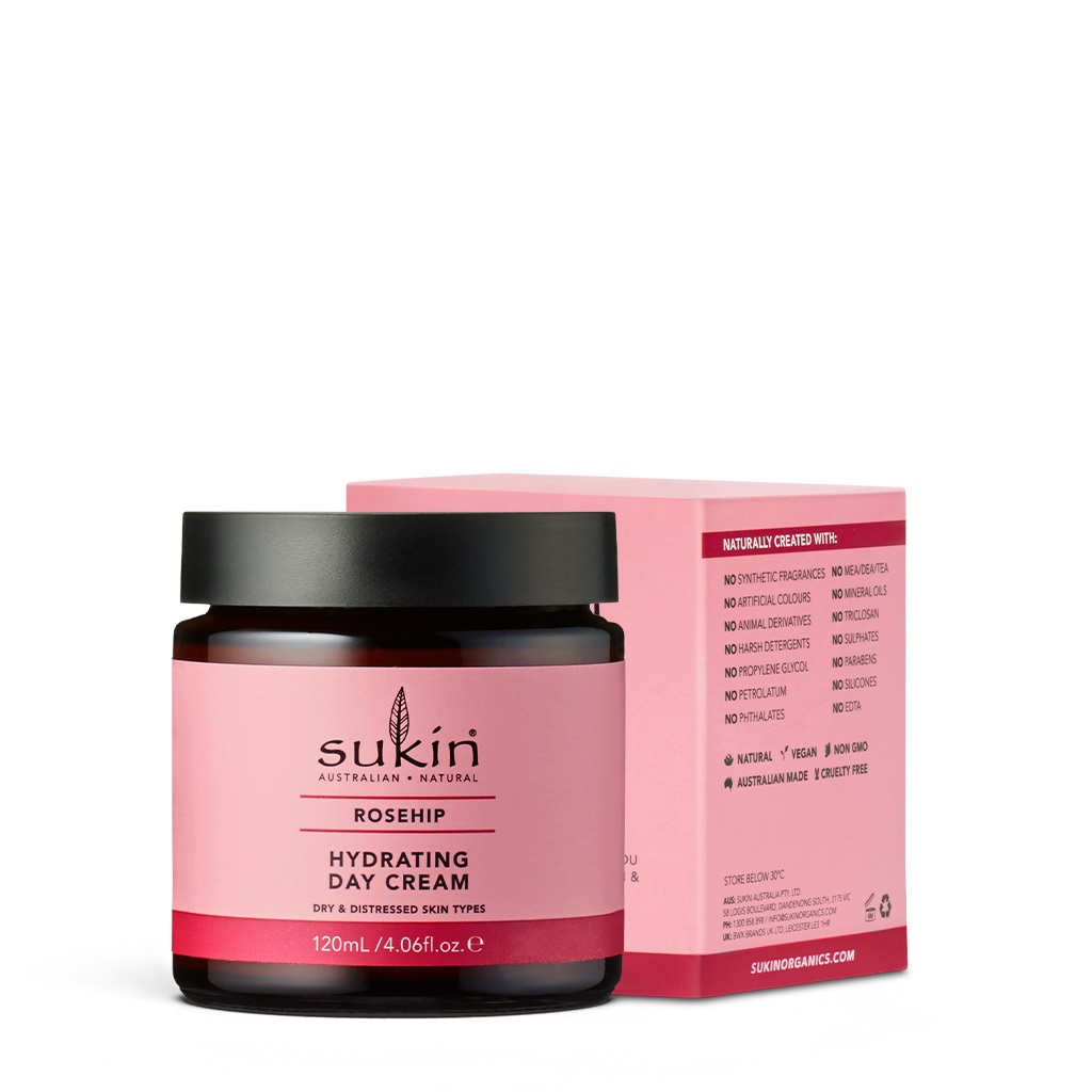 Kem dưỡng ẩm da ban ngày Sukin Rosehip Hydrating Day Cream 120ml