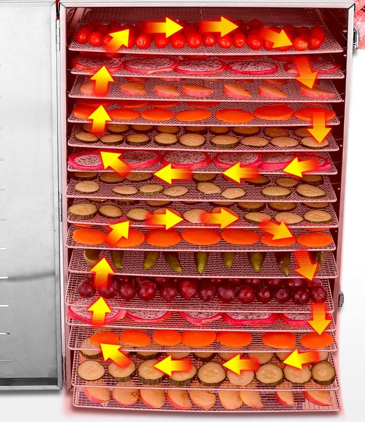 Máy sấy thực phẩm 16 khay