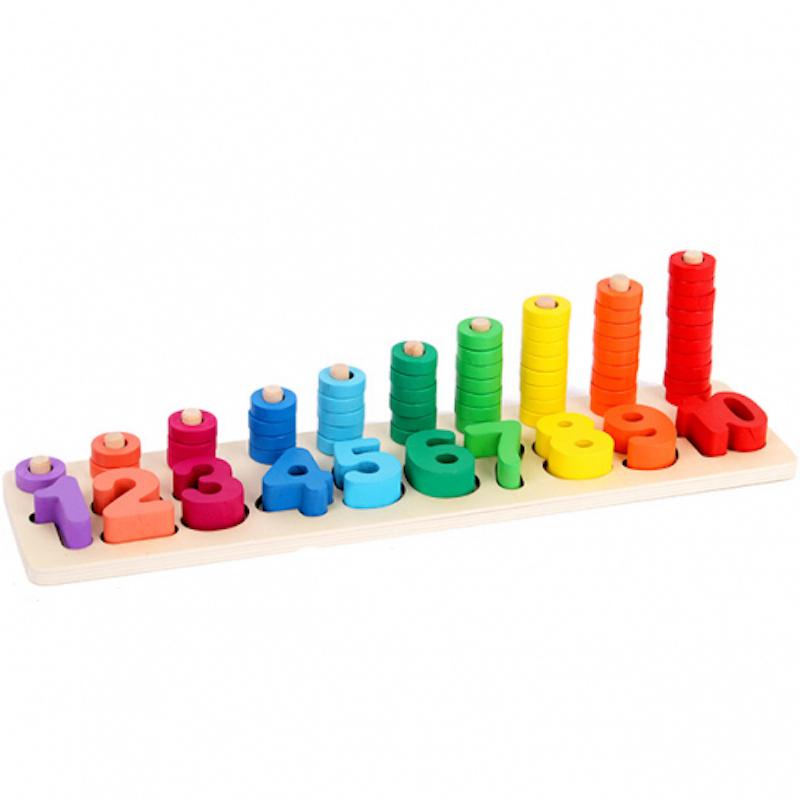 Đồ chơi gỗ cao cấp - Bộ logic toán học 2 dòng