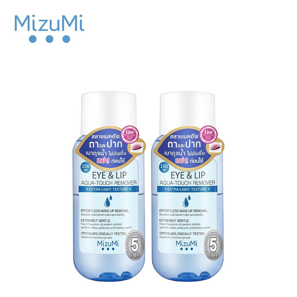 Tẩy Trang Cho Mắt Và Môi MizuMi Eye&Lip Aqua-Touch Remover 5 Free 100ml