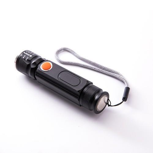 Giá Siêu rẻ-Đèn pin nhật bản - Đèn pin mini đa năng bóng Q5L siêu sáng có đèn trên thân - Chế độ sạc USB Zoom LED