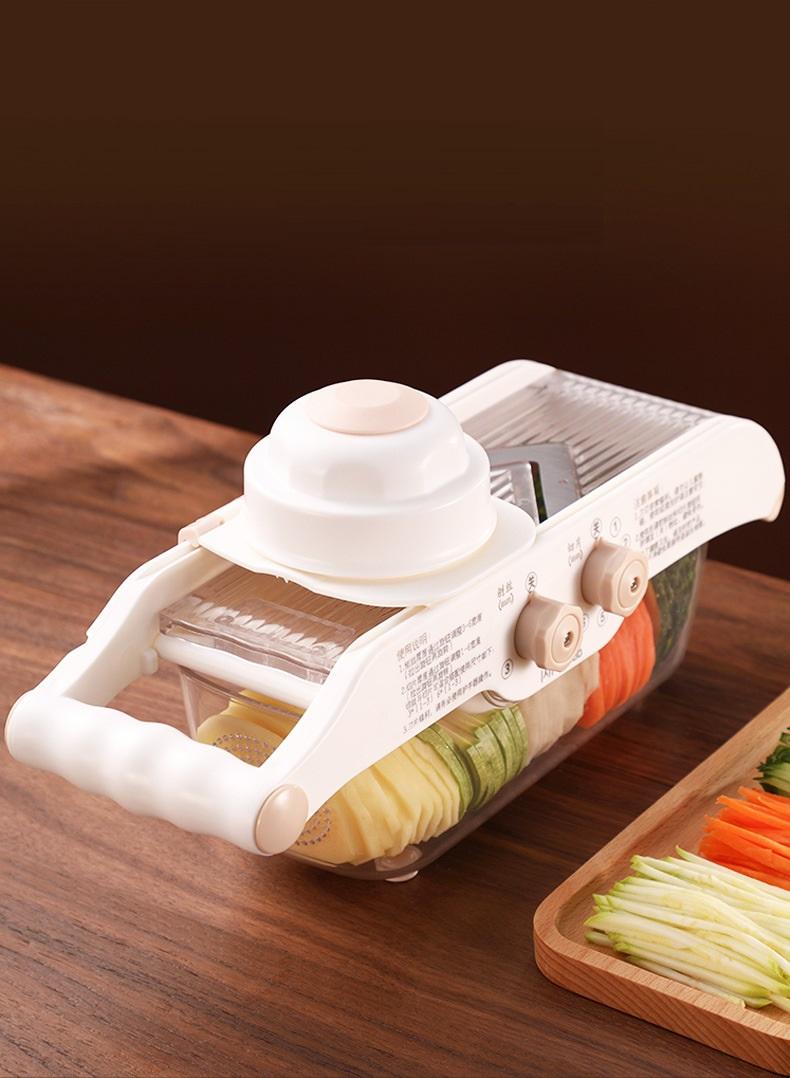 Dụng cụ giúp bào sợi và thái lát rau củ, giúp cho món ăn trở nên hấp dẫn - Tặng kèm 3 miềng dán siêu chắc