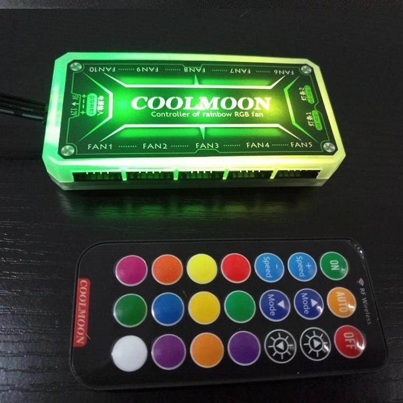 Bộ hub Coolmoon RGB cho Fan Led - hàng nhập khẩu