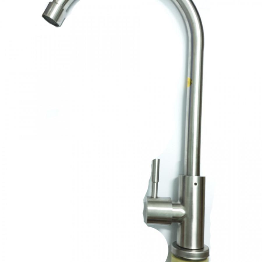 Vòi Chén Lạnh inox SUS 304 Cao Cấp_ vòi rửa chén inox cao cấp ống cong