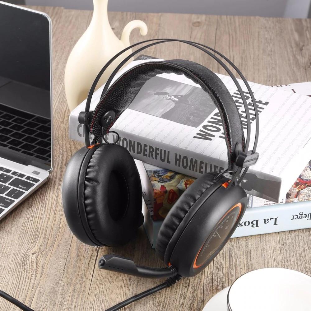 Tai Nghe Chụp Tai V6 Chuyên Game PUBG, Liên quân Đèn LED Màu Cổng USB Âm Thanh 7.1 - hàng chính hãng