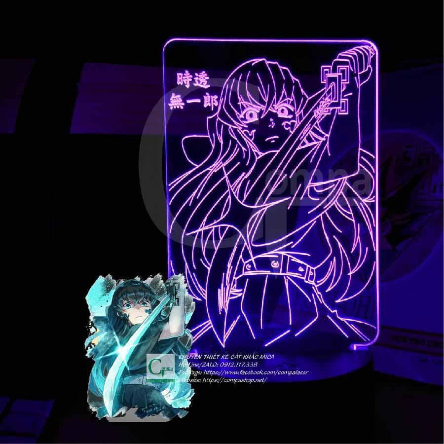 Đèn Ngủ Kimetsu no Yaiba Hà Trụ Tokitou Muichirou Type 03 AKNY0903 16 màu tùy chỉnh, quà tặng độc đáo