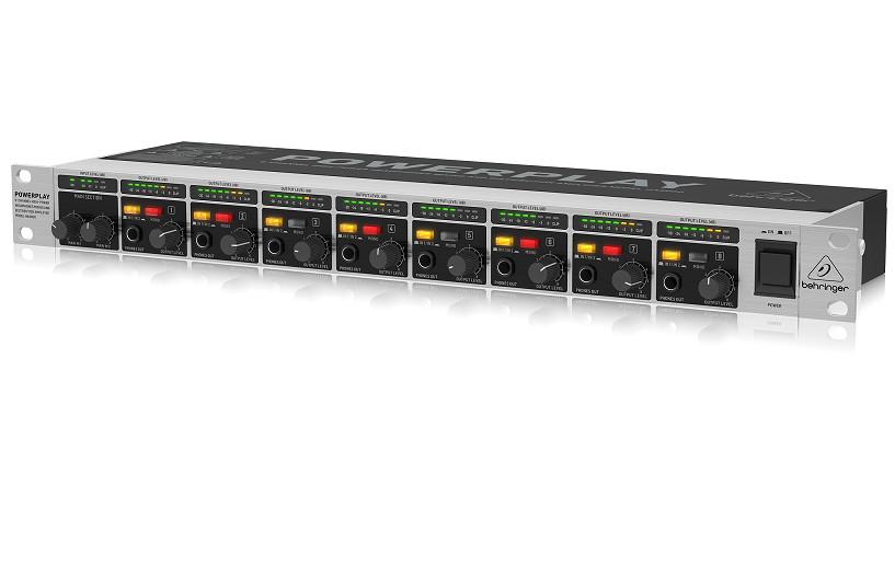 Bộ khuếch đại tai nghe Behringer HA8000 V2 8-channel Headphone- Hàng Chính Hãng